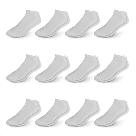 White Athletic Low Cut Socks - 12 Pack