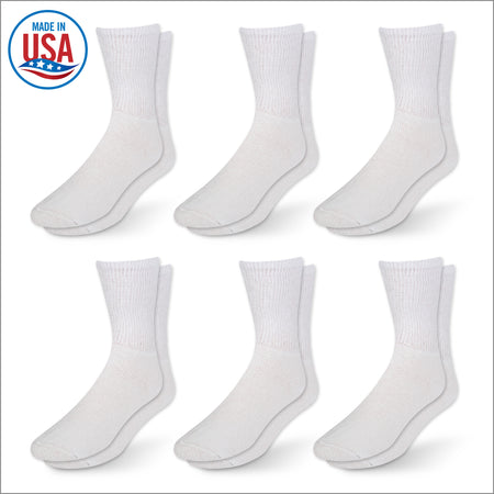 Women's Diabetic Socks - 6 Pack - White
