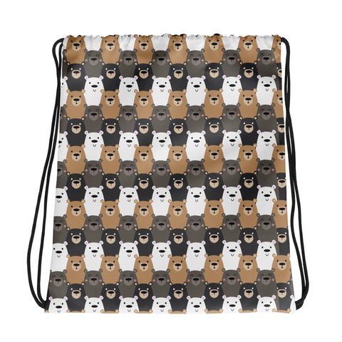 Bear on Bear Drawstring Bag
