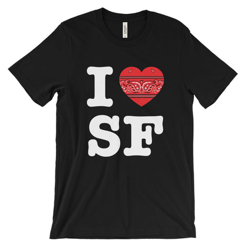 I Hanky Heart SF T-Shirt, Red