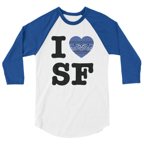 I Hanky Heart SF Baseball Shirt, Blue