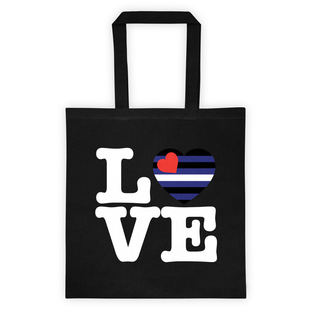 Leather LOVE Tote Bag