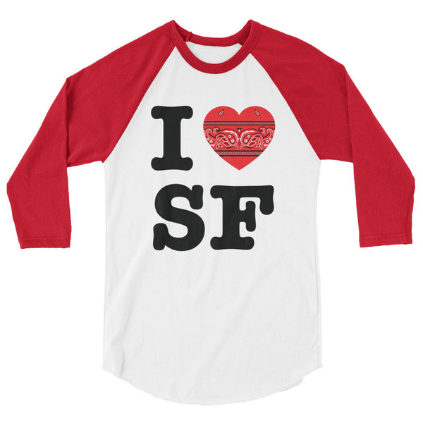 I Hanky Heart SF Baseball Shirt, Red