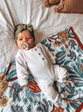 Wattle and Gum Reversible Cot Quilt