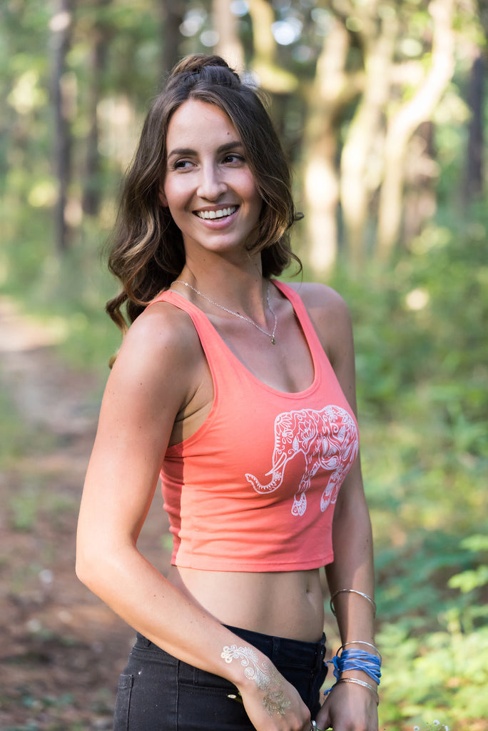 Elephant Print Crop Top - Inspired by Stephanie Rose