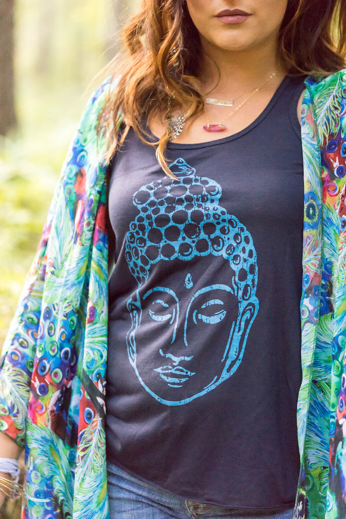 Buddha Flowy Yoga Tank - Inspired by Stephanie Rose