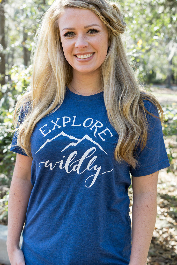 Women's Hiking Tee | Explore Wildly - Inspired by Stephanie Rose