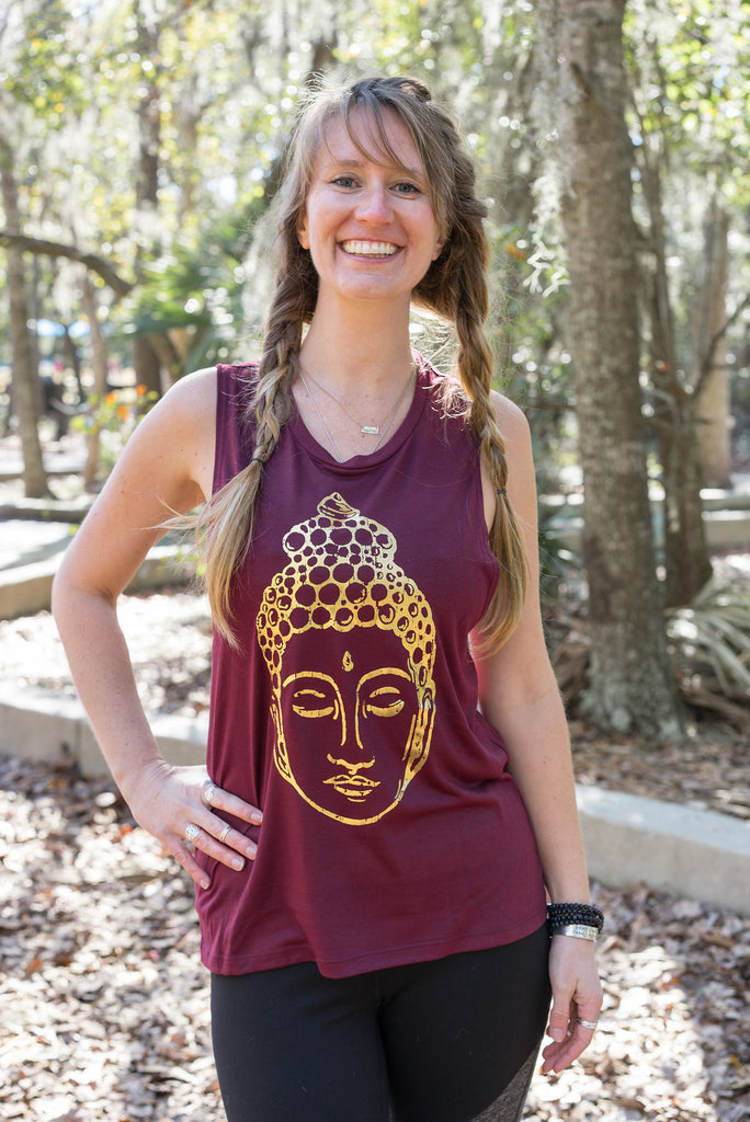 Buddha Womens Workout Tank - Inspired by Stephanie Rose