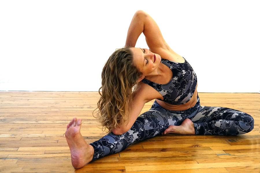Eco Elephant Yoga Leggings made from recycled plastic bottles - Inspired by Stephanie Rose