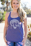 Ganesha and Lotus Flower Yoga Tank Top - Inspired by Stephanie Rose