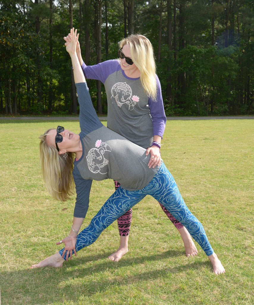 Ganesha Women's 3/4 length Raglan - Inspired by Stephanie Rose