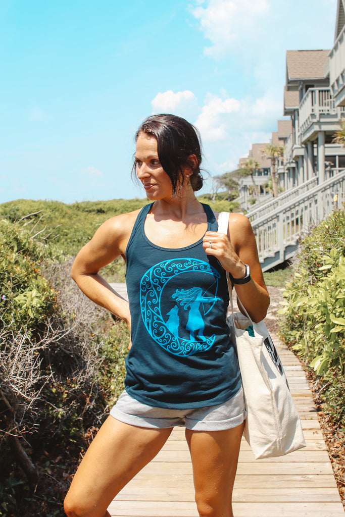 Artemis Greek Goddess Yoga Tank Top - Inspired by Stephanie Rose