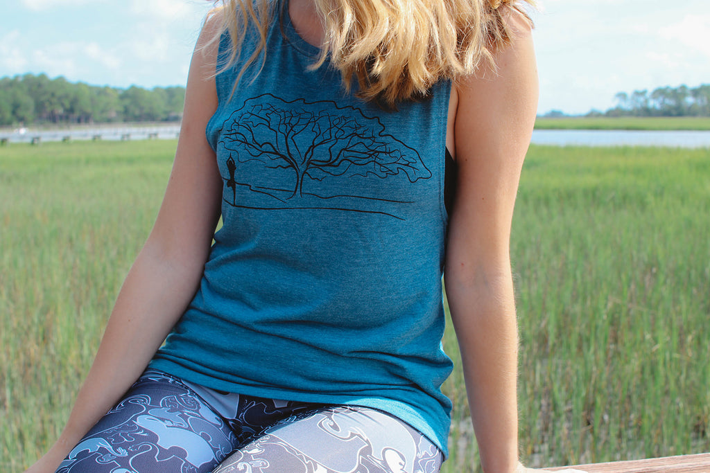 Tree Pose Muscle Tank - Inspired by Stephanie Rose