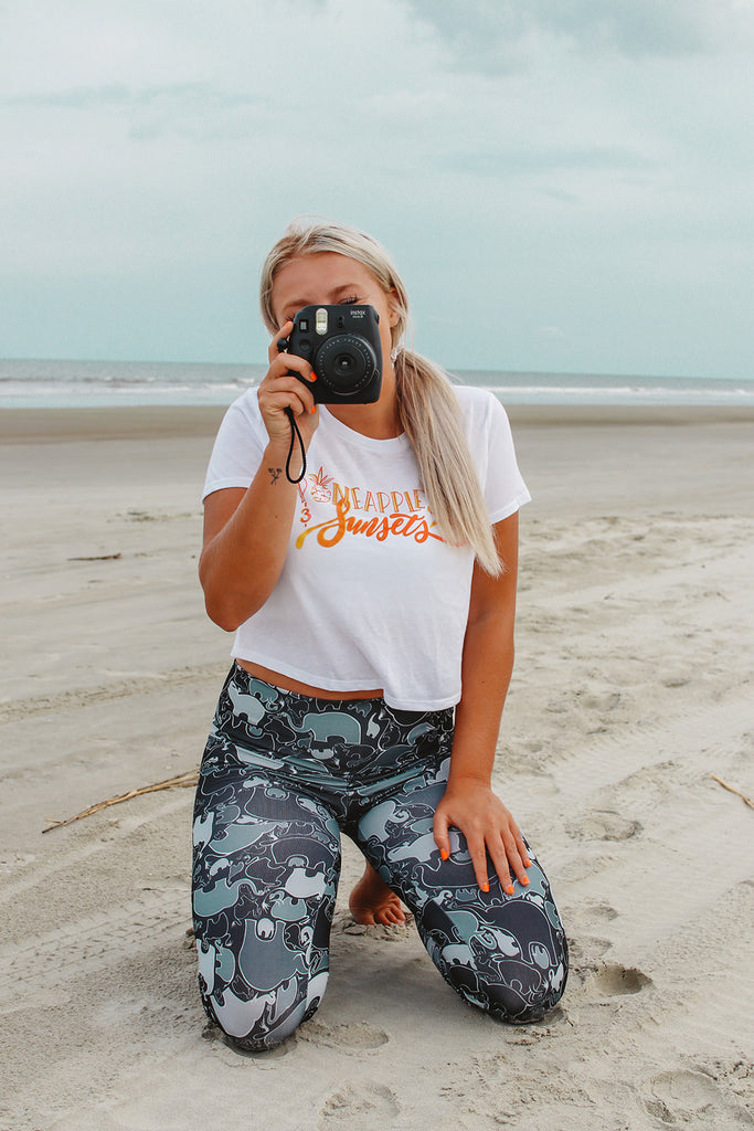 Flowy Summer Cropped Tshirt - Inspired by Stephanie Rose