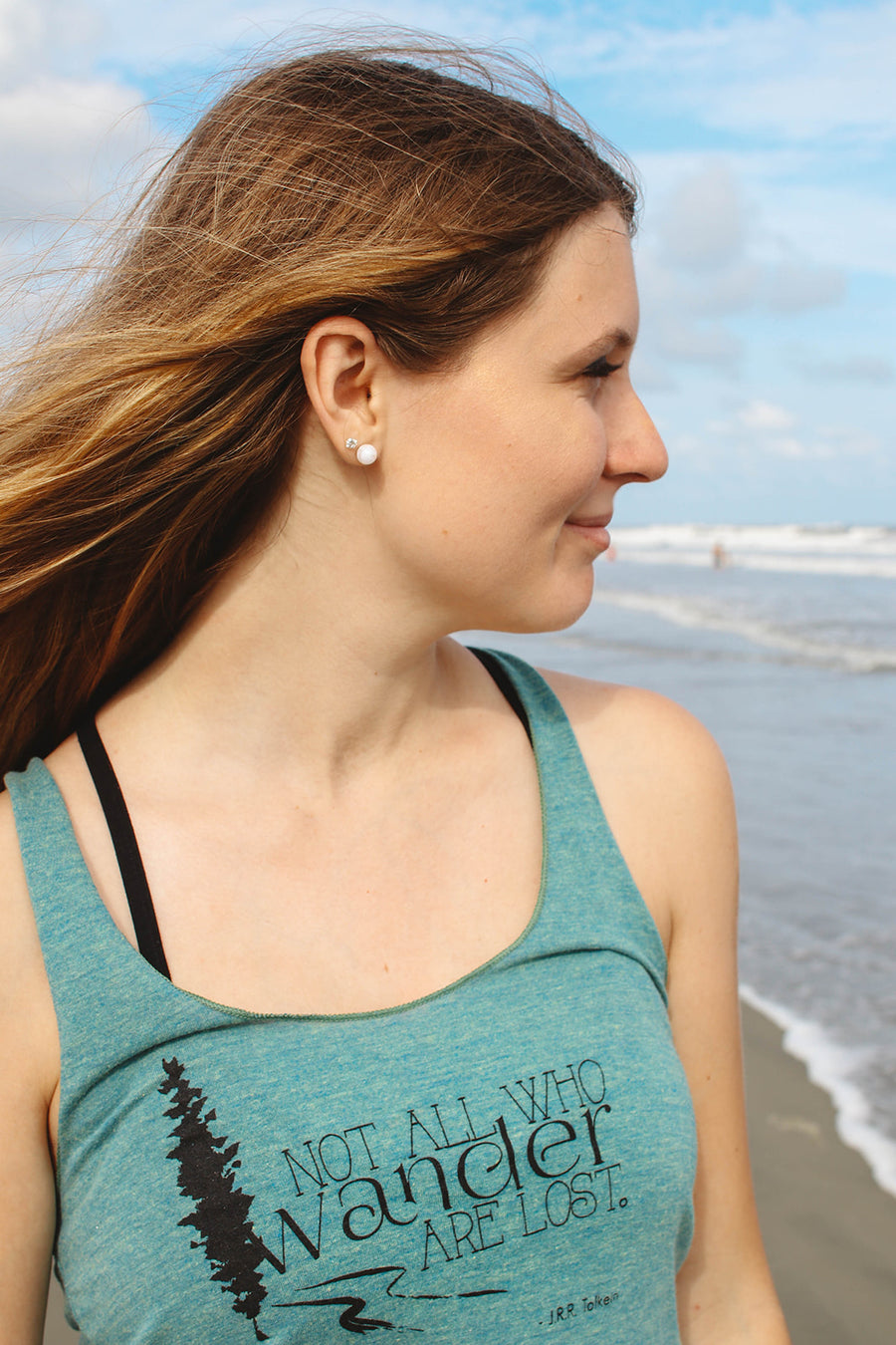 Not All Who Wander Are Lost Women's Hiking Tank - Inspired by Stephanie Rose