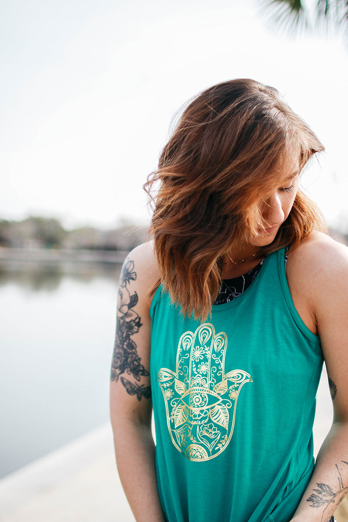 Hamsa Hand Racerback Women's Tank - Inspired by Stephanie Rose