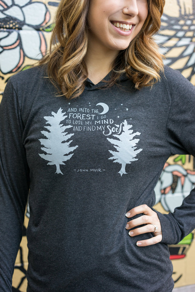 Into the forest I go Long Sleeve Hoodie - Inspired by Stephanie Rose