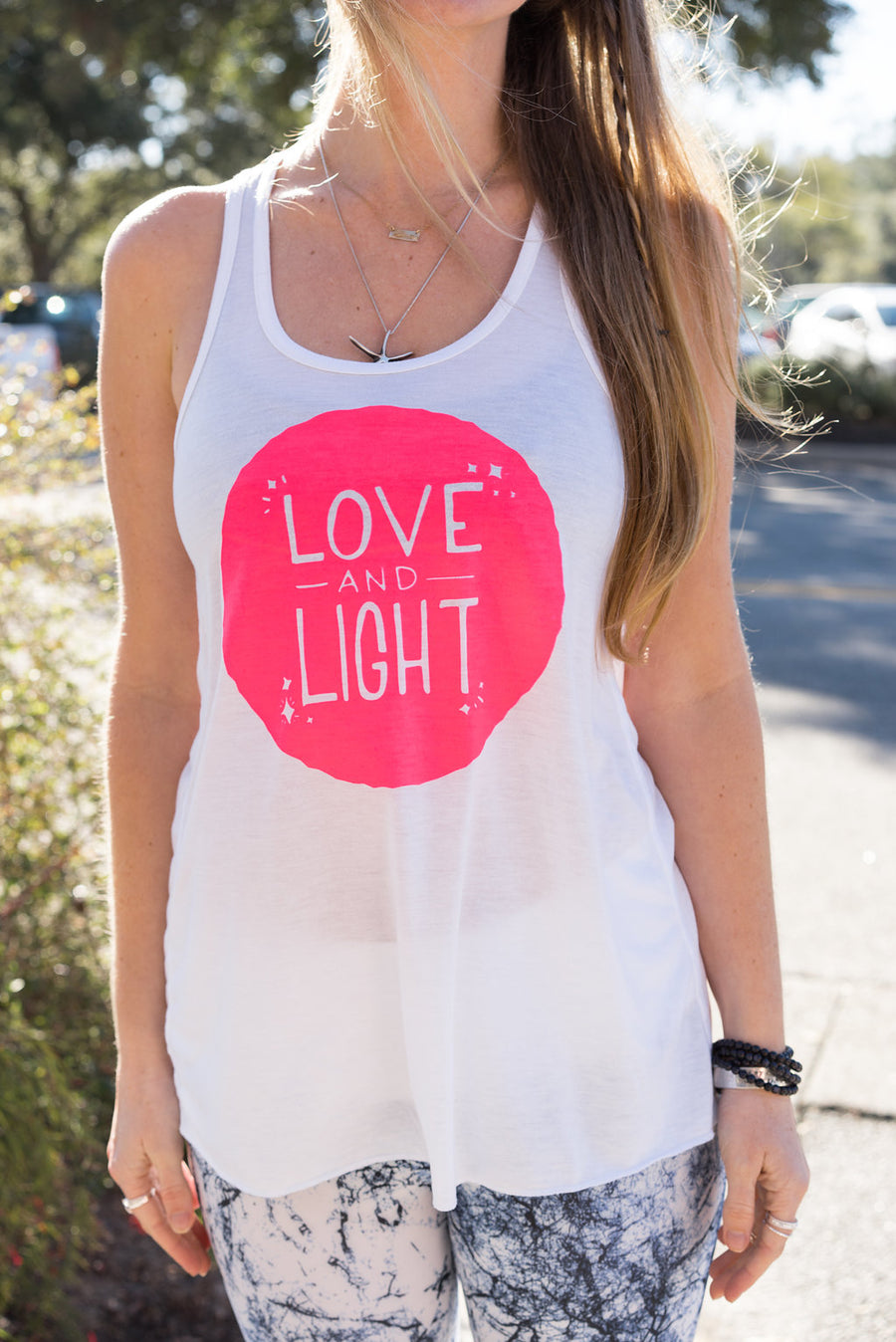 Blacklight Yoga Glow Tank | love and light - Inspired by Stephanie Rose