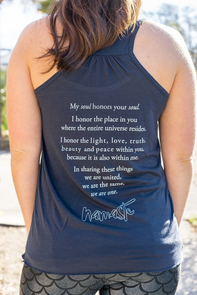 Namaste Yoga Tank | My Soul Honors Your Soul Tank - Inspired by Stephanie Rose
