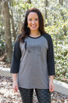 Not All Who Wander Are Lost Women's Raglan Tee - Inspired by Stephanie Rose