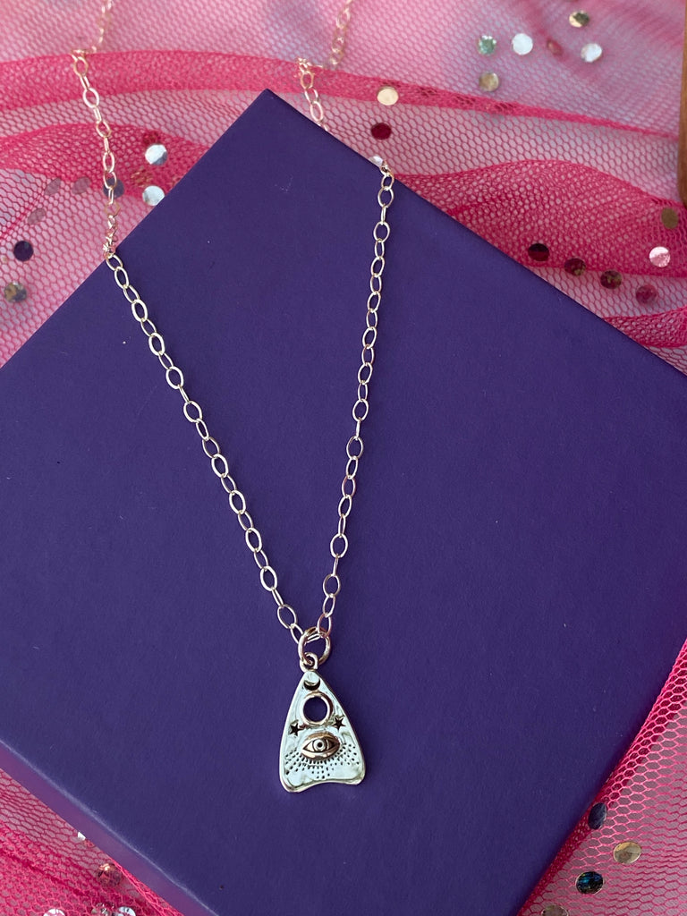 Witchy Oujia Planchette Charm Necklace - Inspired by Stephanie Rose