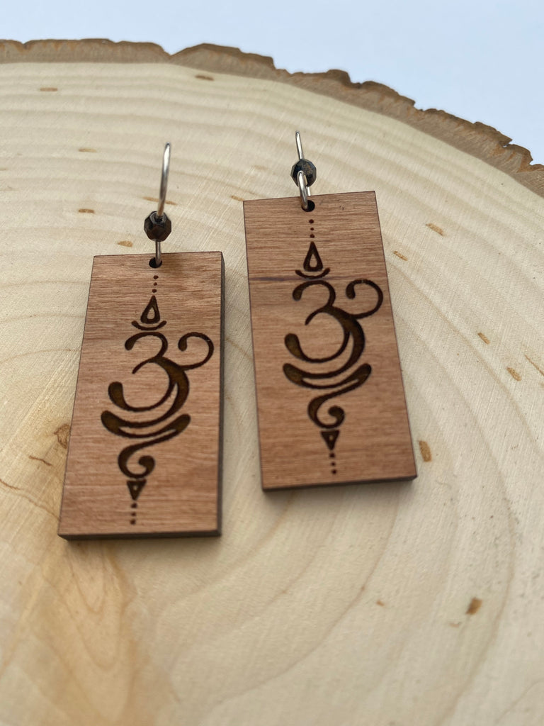 Just Breathe Wooden Earrings - Inspired by Stephanie Rose