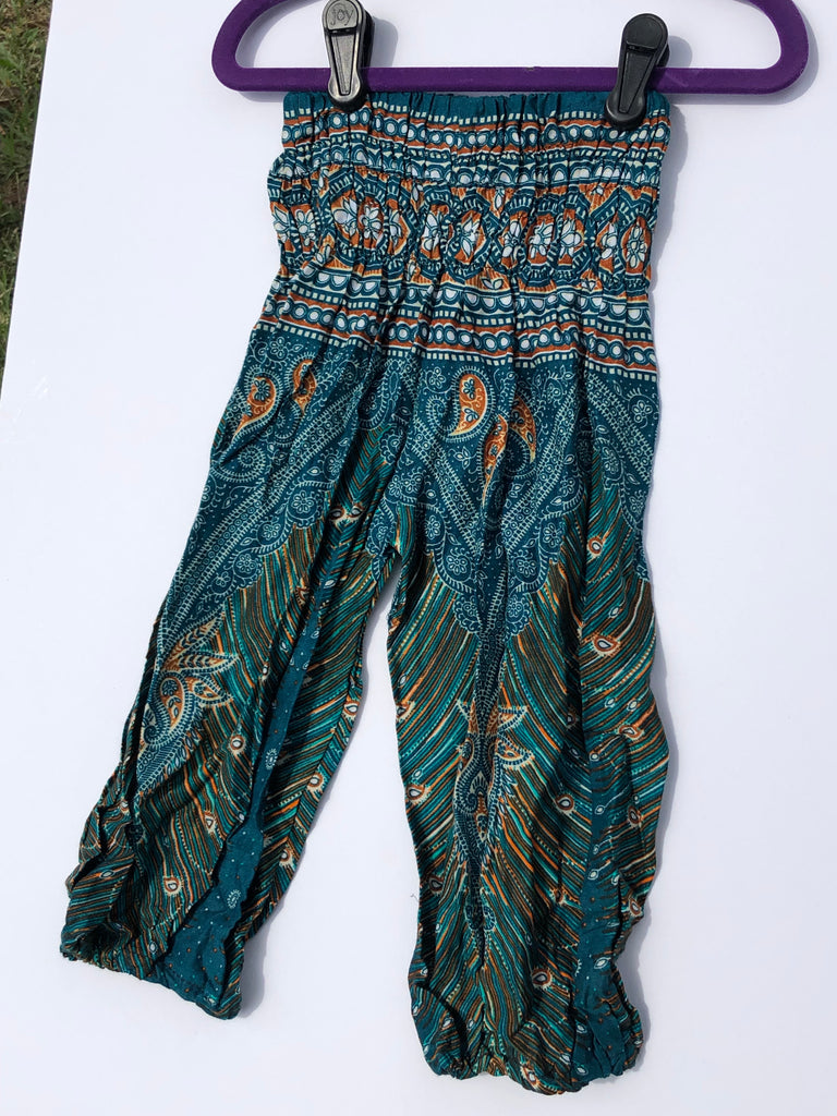 Teal Paisley Kids Harem Pants - Inspired by Stephanie Rose