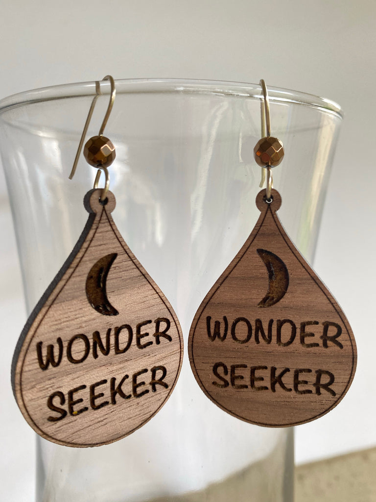 Wonder Seeker Wooden Earrings - Inspired by Stephanie Rose