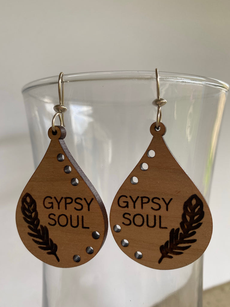Gypsy Soul Wooden Earrings - Inspired by Stephanie Rose