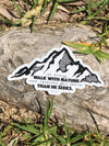 John Muir Sticker | In every walk with nature one receives far more than he seeks - Inspired by Stephanie Rose