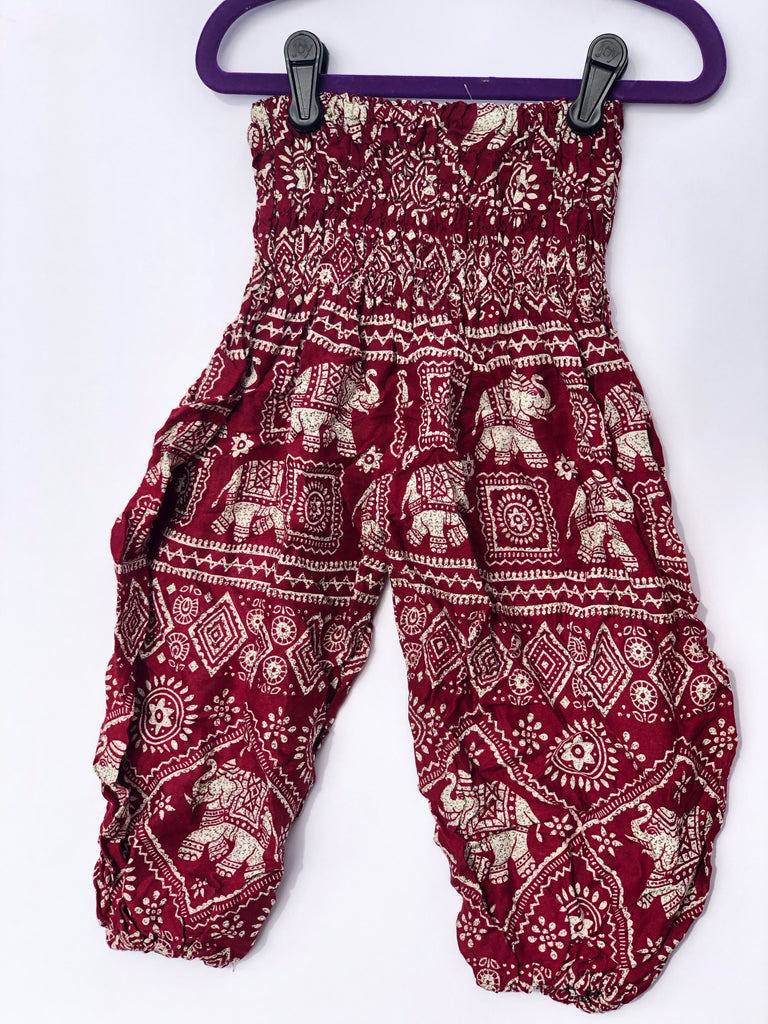 Red Elephant Kids Harem Pants - Inspired by Stephanie Rose