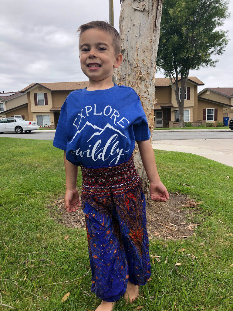 Royal Paisley Lotus Kids Harem Pants - Inspired by Stephanie Rose