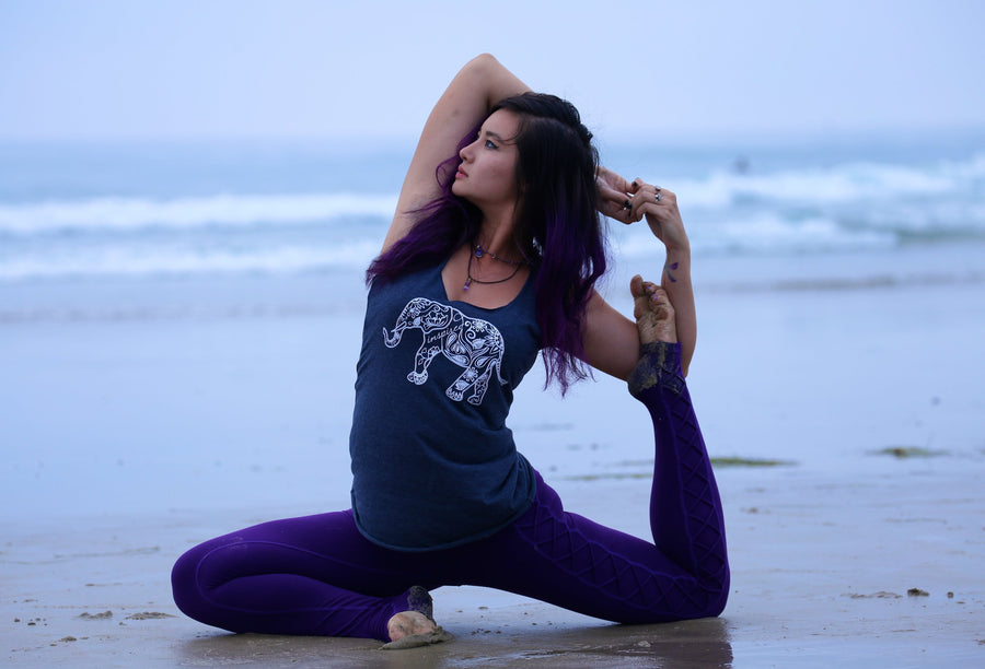 Henna Elephant Yoga Tank - Inspired by Stephanie Rose