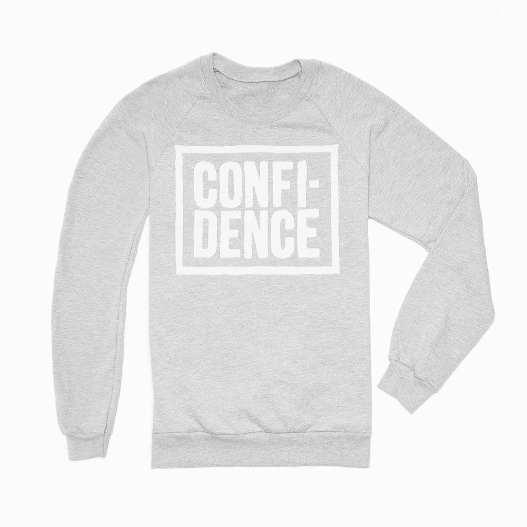Brooklyn Mate Confidence sweatshirt Graphite heather