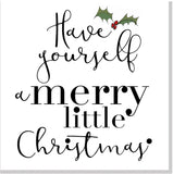 Merry little Christmas square card