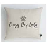 Crazy dog lady cushion