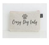 Crazy dog lady small make up bag
