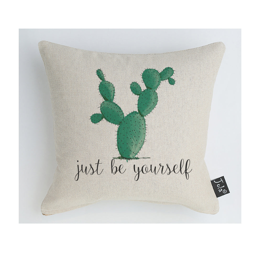 Just be yourself cactus Cushion