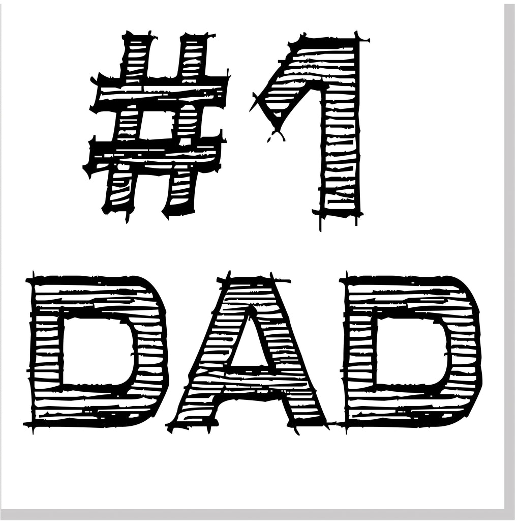 #1 Dad square card