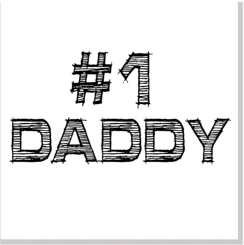 #1 Daddy square card
