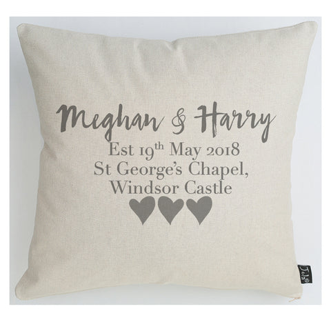 Personalised Megan & Harry cushion