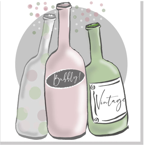 Three Bottles square card