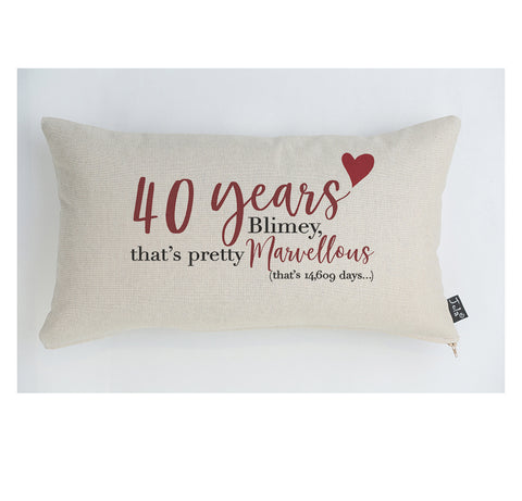 40 years Anniversary Cushion