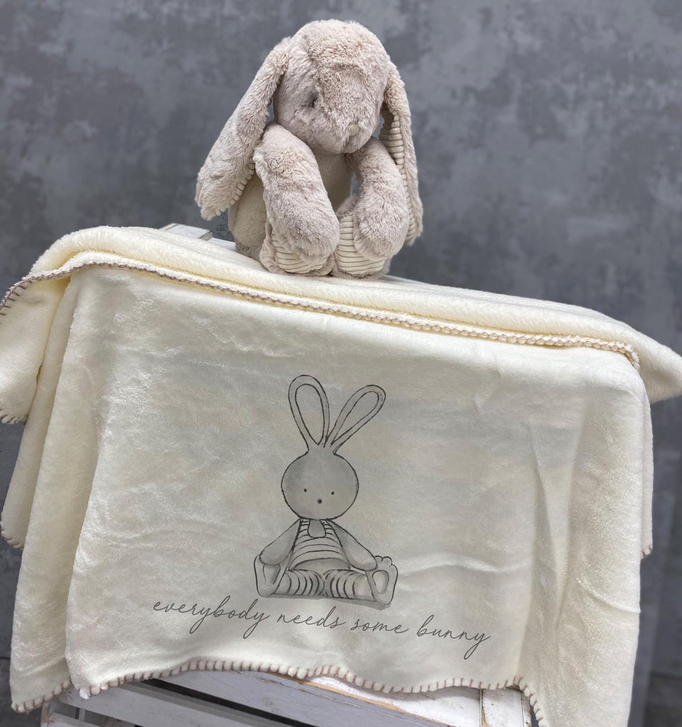 Soft Bunny with Blanket, Everybody Needs Some Bunny.