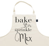 Bake Stir Sprinkle Mix Apron
