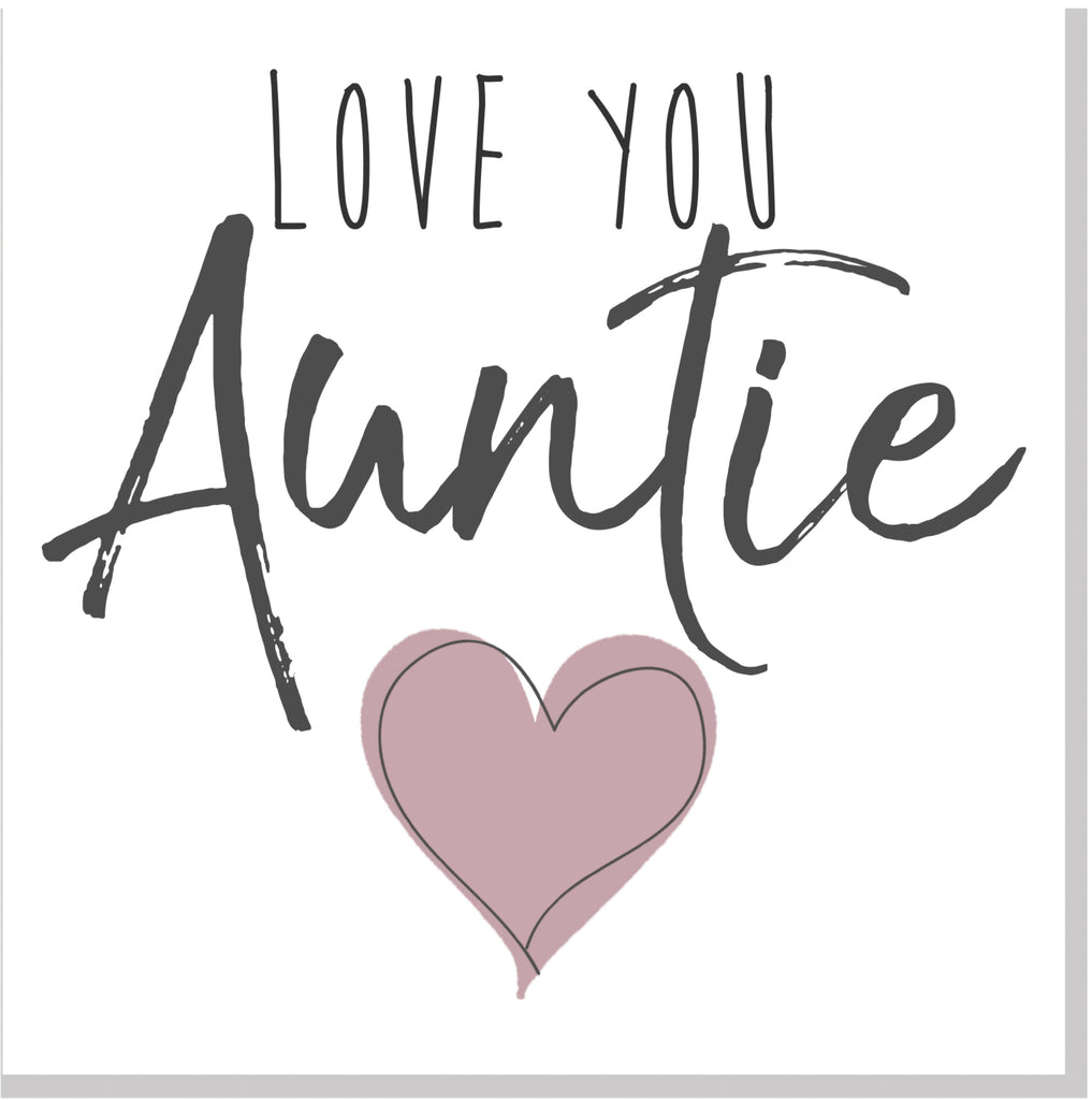 Love you Auntie square card