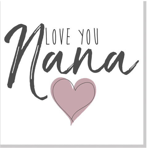 Love you Nana card