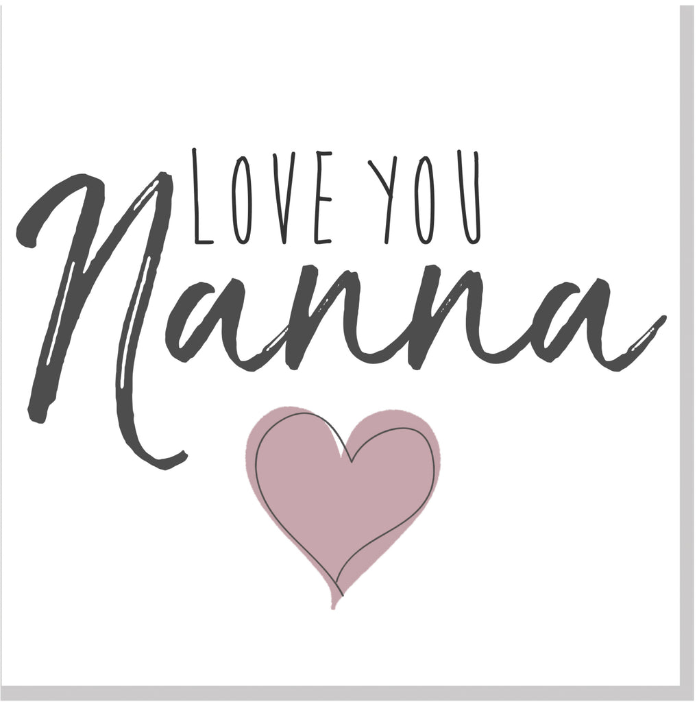 Love you Nanna square card