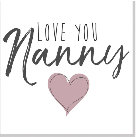 Love you Nanny square card