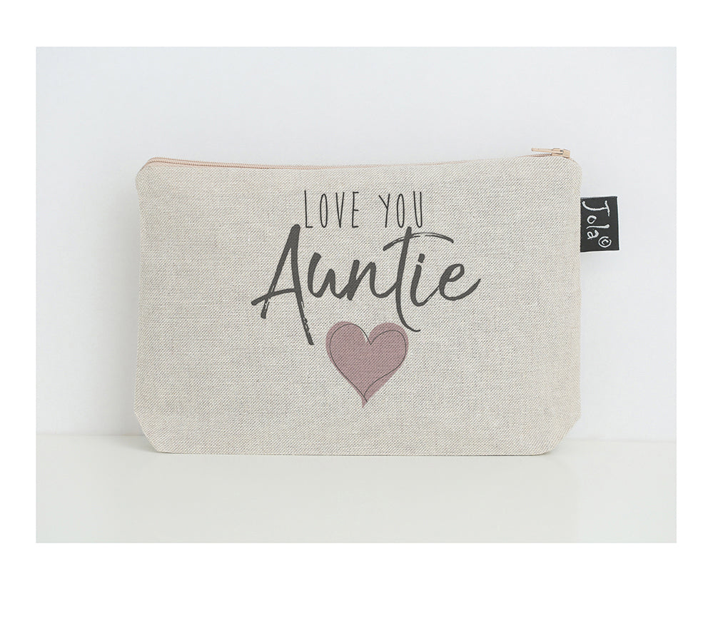 Love you Auntie make up bag